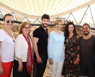 Hercai oyuncuları ile Romanya Prensesi Göbeklitepe'de!