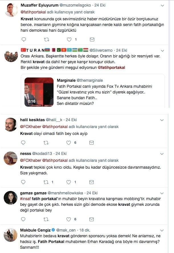 Fatih Portakala Tepkiler çığ Gibi Canlı Yayında Ankara Haber