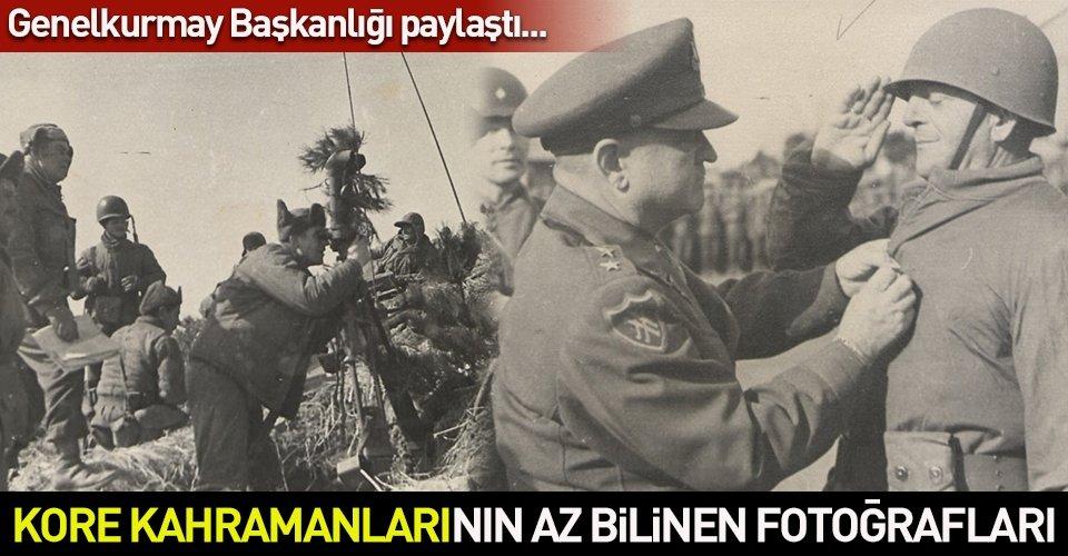 Genelkurmay Başkanlığı arşivlerindeki Kore Savaşına katılan Türk askerlerinin az bilinen fotoğraflarını yayınladı. İşte o kareler...