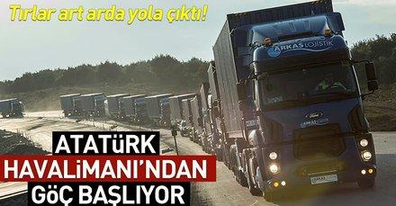 Atatürk Havalimanından taşınmanın ilk anları böyle görüntülendi