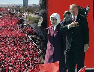 Cumhur İttifakı Ankara miting alanı saatler öncesinden doldu taştı