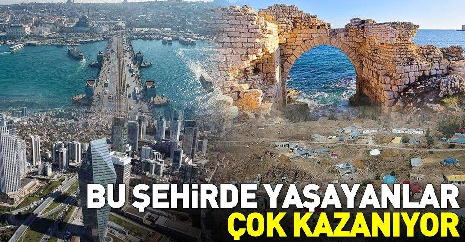 Türkiyenin geliri en yüksek ve en düşük olan illeri