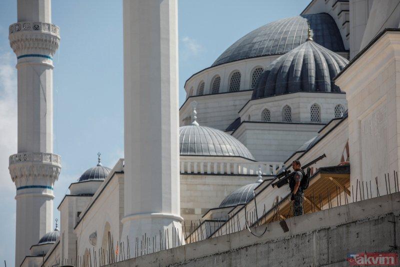 Başkan Erdoğan Çamlıca camiisini inceledi