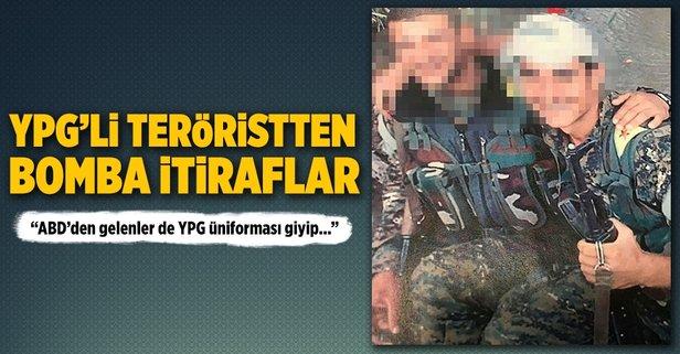 ABDden gelenler de YPG üniforması giyip keleş taşıyorlardı