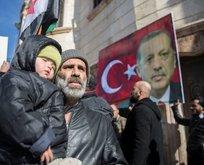 Suriyelilerden Türkiye'ye Afrin desteği
