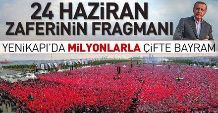 """Yenikapı Miting Alanı'nda """"Büyük İstanbul Mitingi""""ne milyonlar akın etti"""