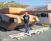 İşte Afrinde teröristleri rezil eden o tank