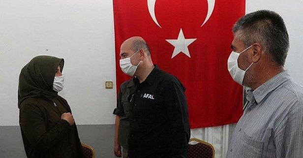 Bakan Soylu'dan şehit ailesine taziye ziyareti