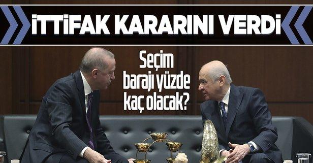 Cumhur İttifakı'nın seçim barajı kararı yüzde 7!