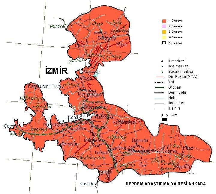 Kıbrıs deprem haritası