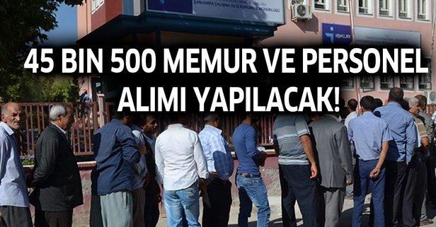 45 bin 500 memur ve personel alımı yapılacak!