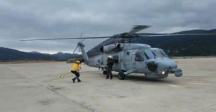 Askeri helikopter 9 aylık bebek için havalandı
