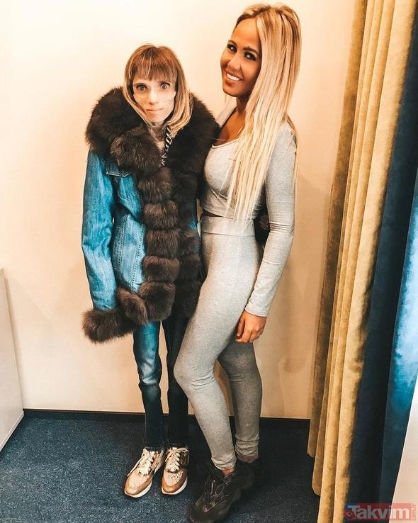Russian announcer Kristina Karyagina at the same weight as the 4-year-old boy!  (What is anorexia?)