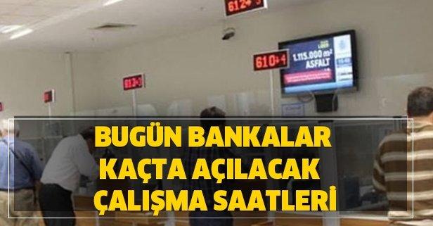 Bankalarin Calisma Saatleri Ne Oldu Bugun Bankalar Saat Kacta