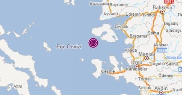 Ege'de peşe peşe depremler