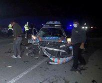 Jandarma aracı kaza yaptı!