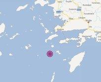 Ege'de 5,5 büyüklüğünde deprem!