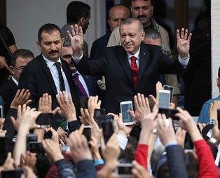 Başkan Erdoğan'dan seçim toplantısı