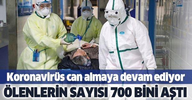 Dünya genelinde ölenlerin sayısı 700 bini aştı