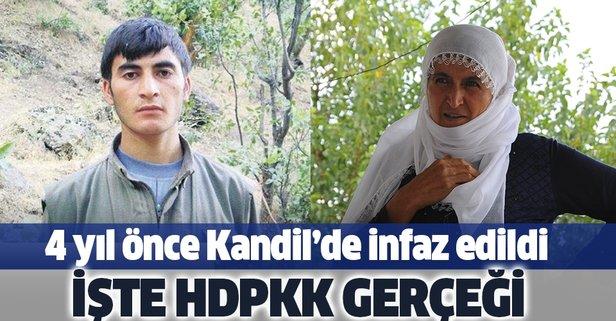 Diğer oğlunu Kandil'de infaz etmişler