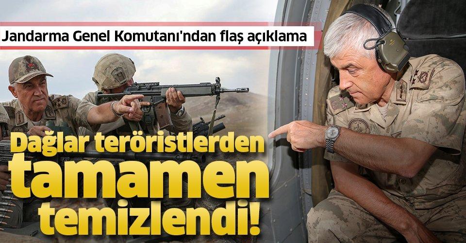 Jandarma Genel Komutanı'ndan 'Kıran Operasyonu' açıklaması: Dağlar teröristlerden tamamen temizlendi