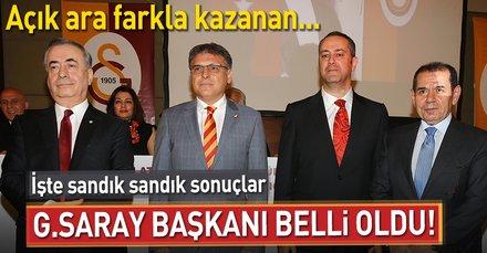 Son dakika: Galatasarayın 38. Başkanı Mustafa Cengiz oldu
