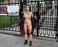 FEMEN üyesinden Ukrayna'da protesto