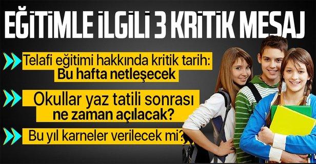 Milli Eğitim Bakanı Selçuk'tan 3 kritik mesaj!