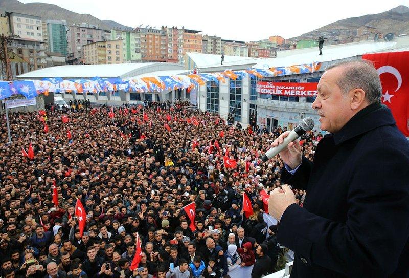 Hakkaride Erdoğan coşkusu