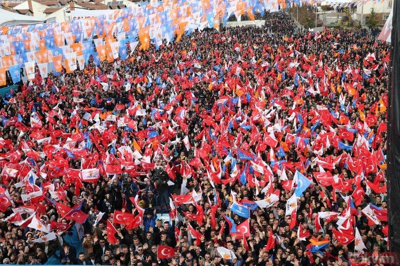 Başkan Erdoğan'ın Kastamonu mitinginde dikkat çeken afiş!