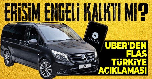 Uber'e erişim engeli kaldırıldı mı?