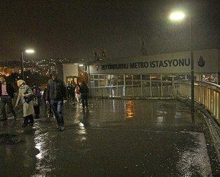Metro istasyonunda korkutan kaza!