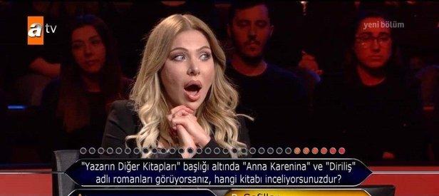 Kenan İmirzalıoğlu'nun sunduğu Kim Milyoner Olmak İster'e damga vuran 'Tolstoy' sorusu!