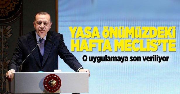 Erdoğan: Yardımcı doçentliği kaldıran düzenleme Meclise geliyor!
