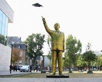 Almanya'da Erdoğan heykeliyle provokasyon!