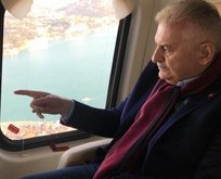 Binali Yıldırım İstanbul'u havadan inceledi