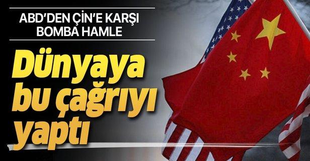 Pompeo'dan dünyaya çağrı: Çin'in Uygur Türklerine...