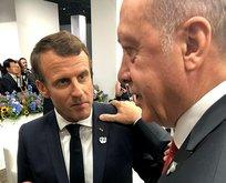 Erdoğan Macron'un yüzüne söyledi! Bak! Konuşamazsın