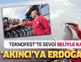 Cumhurbaşkanı Recep Tayyip Erdoğan TEKNOFEST'i ziyaret etti