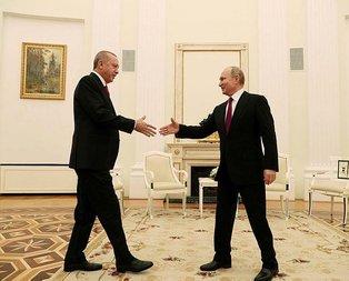 Erdoğan-Putin görüşmesinden ilk fotoğraflar