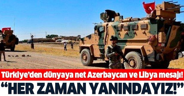 Bakan Akar'dan Azerbaycan ve Libya açıklaması