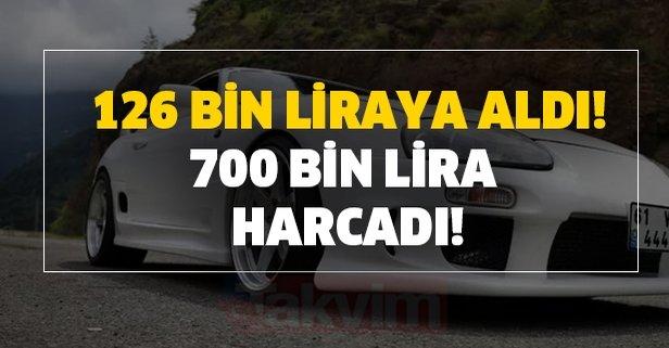 126 bin liraya aldığı spor arabayı 700 bin lira harcayarak modifiye etti!