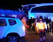 TIR ile otobüs çarpıştı: Yaralılar var