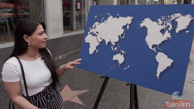 ABDlilerden haritada ülke göstermeleri istendi! Cevaplar şaşırttı
