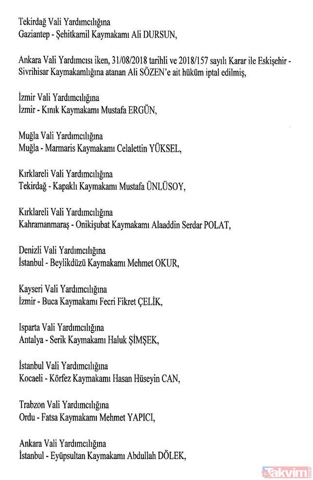 Son dakika haberi: 8 Ağustos Atama Kararları Resmi Gazete´de | Kaymakam atamaları tam liste