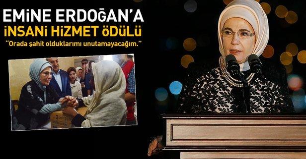 Emine Erdoğan'a Londra'da insani hizmet ödülü