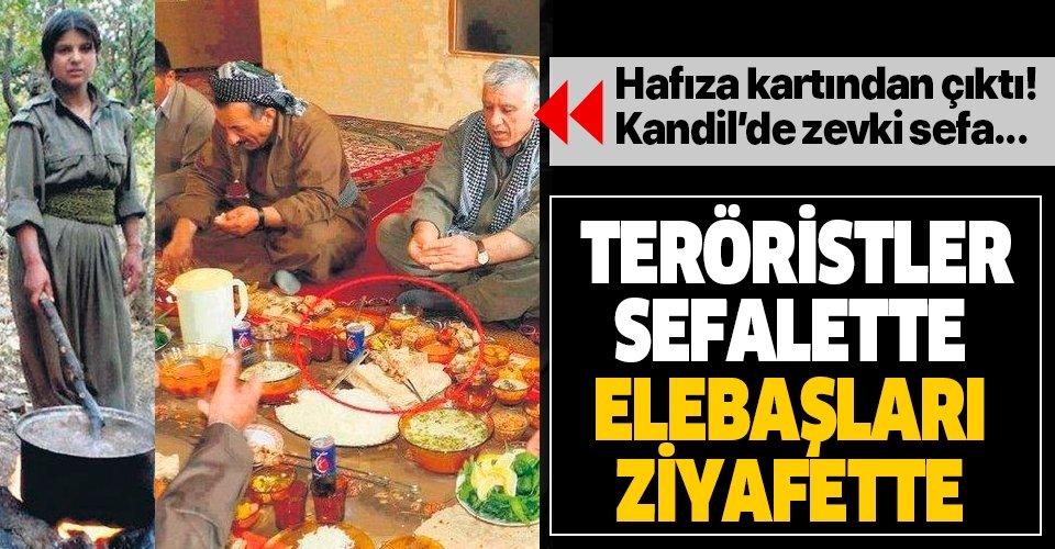 Teröristler sefalette elebaşları ziyafette