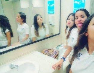 Bilim insanları açıklayamıyor... Genç kızların çektiği bu fotoğraf kan dondurdu!