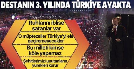 Son dakika: Başkan Erdoğan'dan 15 Temmuz'un yıldönümünde önemli açıklamalar: Ruhlarını iblise satanlar var