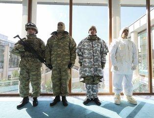 İşte Türk askerinin kış için özel tasarlanan kıyafetleri